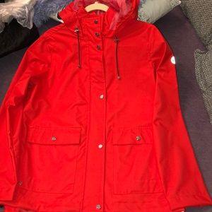 Brand new Red Bernardo light rain coat!